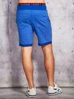 Niebieskie dresowe szorty męskie z troczkami                                  zdj.                                  2