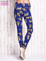 Niebieskie legginsy w gepardy                                  zdj.                                  2