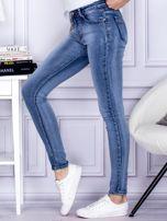 Niebieskie rozjaśniane jeansy rurki PLUS SIZE                                  zdj.                                  3