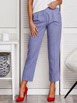 Niebieskie spodnie 7/8 w drobny deseń                                  zdj.                                  1