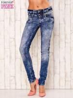 Niebieskie spodnie jeansowe marble denim z gwiazdką                                                                          zdj.                                                                         1