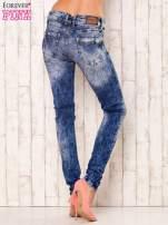Niebieskie spodnie jeansowe marble denim z gwiazdką                                                                          zdj.                                                                         3