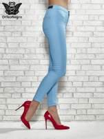 Jasnobrązowe spodnie rurki skinny                                                                          zdj.                                                                         3