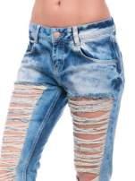 Niebieskie spodnie trash jeans z cieniowaniem                                  zdj.                                  5