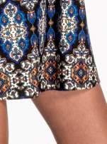 Niebieskie sukienka etno z rozszerzanymi rękawami                                                                          zdj.                                                                         6
