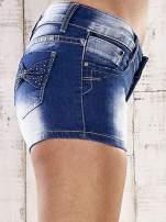 Niebieskie szorty jeansowe z kokardami na kieszeniach                                                                          zdj.                                                                         5