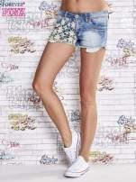 Niebieskie szorty jeansowe z koronką                                  zdj.                                  2