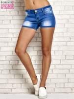 Niebieskie szorty jeansowe z przetarciami                                                                          zdj.                                                                         2