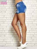 Niebieskie szorty jeansowe z przetarciami                                  zdj.                                  5