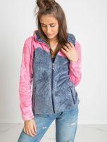 Niebiesko-różowa bluza Couture                                  zdj.                                  1