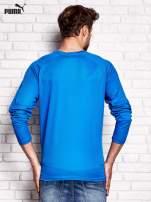 PUMA Niebieska bluzka męska z przeszyciami                                  zdj.                                  3
