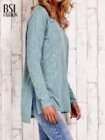 Pastelowozielona bluzka z rozporkami z boku                                  zdj.                                  3