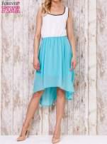 Pastelowozielona tiulowa sukienka z krzyżowanymi plecami                                  zdj.                                  2