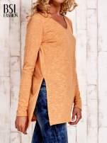 Pomarańczowa bluzka z rozporkami z boku                                  zdj.                                  3