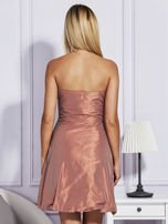 Pomarańczowa sukienka z drapowaniem                                  zdj.                                  2