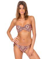Pomarańczowe wiązane bikini Survey w geometryczne wzory                                  zdj.                                  5