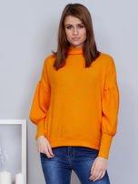 Pomarańczowy sweter z szerokimi rękawami                                  zdj.                                  1