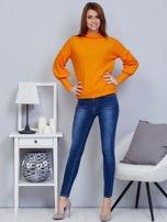 Pomarańczowy sweter z szerokimi rękawami                                  zdj.                                  4