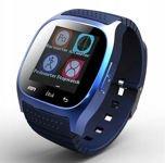 RONEBERG Smartwatch RM26 Współpracuje z Android oraz iOS Powiadomienia Połączenia Krokomierz Monitor snu Niebieski                                  zdj.                                  1