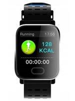 RONEBERG Smartwatch Smartband RA6 Pulsometr Ciśnieniomierz Oksymetr Powiadomienia Długi czas działania Czarny                                  zdj.                                  2