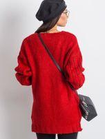 RUE PARIS Czerwony sweter Gift                                  zdj.                                  2