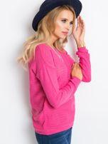 RUE PARIS Różowy sweter Sugarfrost                                  zdj.                                  3