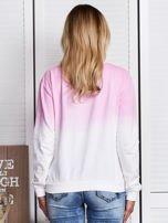 Różowa bluza ombre z napisem                                  zdj.                                  2