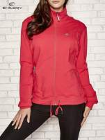 Różowa bluza sportowa fitness ze wstawkami