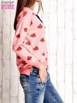 Różowa bluza w arbuzy z wiązaniem                                                                          zdj.                                                                         3