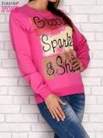 Różowa bluza z napisem GLITTER SPARKLE SHINE                                                                          zdj.                                                                         3