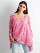 Różowa bluzka ponczo                                  zdj.                                  1