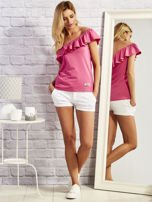 Różowa bluzka z falbaną                                  zdj.                                  4