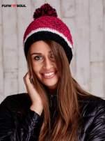 Różowa czapka z pomponem FUNK N SOUL                                  zdj.                                  1
