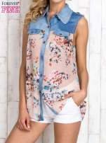 Różowa koszula z kwiatowym motywem                                  zdj.                                  1
