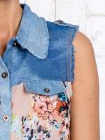 Różowa koszula z kwiatowym motywem                                  zdj.                                  6