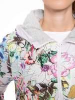 Różowa kwiatowa kurtka bomber jacket z kapturem                                                                          zdj.                                                                         6