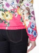 Różowa kwiatowa kurtka bomber jacket z kapturem                                  zdj.                                  9