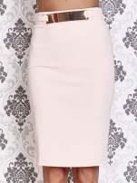 Różowa ołówkowa spódnica w stylu glam