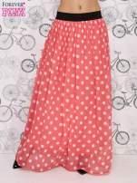 Różowa spódnica maxi w białe grochy                                  zdj.                                  1