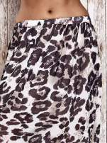 Różowa spódnica maxi we wzór panterkowokwiatowy                                                                          zdj.                                                                         4