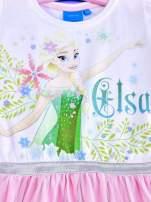 Różowa sukienka dla dziewczynki z brokatowym paskiem FROZEN                                  zdj.                                  4