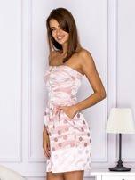 Różowa sukienka w grochy                                   zdj.                                  5