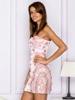 Różowa sukienka w grochy z falbanami                                  zdj.                                  5