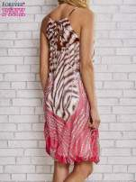 Różowa sukienka wzór leopard print                                  zdj.                                  2