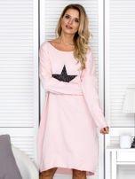 Różowa sukienka z gwiazdą                                   zdj.                                  1