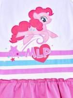 Różowa tunika dla dziewczynki z falbanką na dole MY LITTLE PONY                                  zdj.                                  4