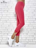 Różowe legginsy sportowe 7/8 z wiązaniem                                                                          zdj.                                                                         2
