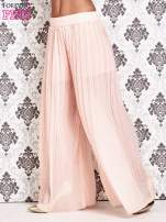 Różowe plisowane spodnie palazzo                                                                           zdj.                                                                         2