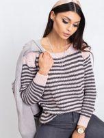 Różowo-szary sweter Oscar                                  zdj.                                  1