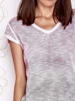 Różowo-szary t-shirt z efektem ombre                                  zdj.                                  5